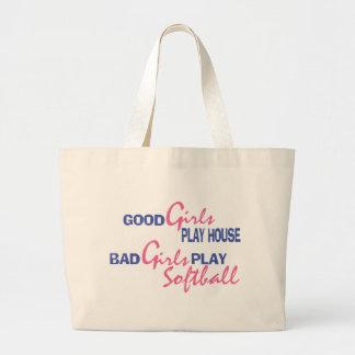 Bad Girls Play Softball Jumbo Tote Bag