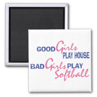 Bad Girls Play Softball Magnet