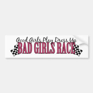 Bad Girls Race Car Bumper Sticker