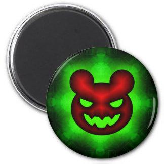 Bad Glowing Green Haloween Bear Magnet
