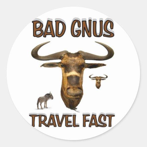 bad gnus classic round sticker