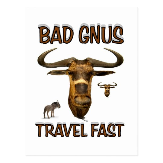 bad gnus postcard