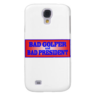 BAD GOLFER AND BAD PRESIDENT png Galaxy S4 Case