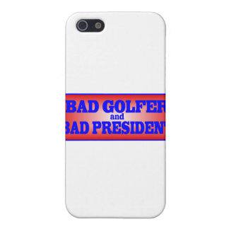 BAD GOLFER AND BAD PRESIDENT png Cases For iPhone 5