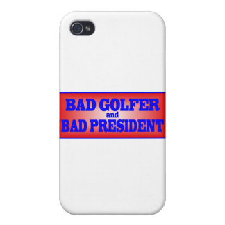 BAD GOLFER AND BAD PRESIDENT png iPhone 4/4S Case