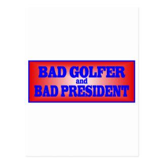 BAD GOLFER AND BAD PRESIDENT.png Postcard