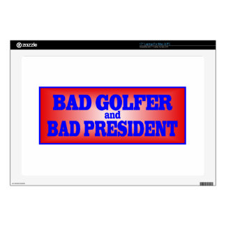 BAD GOLFER AND BAD PRESIDENT png Decals For Laptops