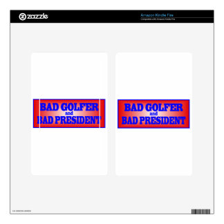 BAD GOLFER AND BAD PRESIDENT png Kindle Fire Skin