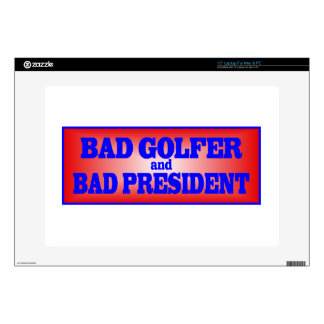 BAD GOLFER AND BAD PRESIDENT png Decal For Laptop