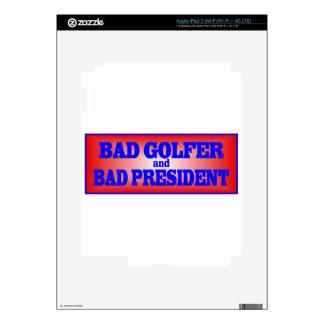 BAD GOLFER AND BAD PRESIDENT png iPad 3 Skins