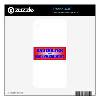 BAD GOLFER AND BAD PRESIDENT png Skins For The iPhone 4S