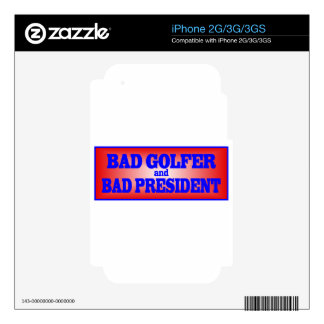 BAD GOLFER AND BAD PRESIDENT png Decals For The iPhone 2G