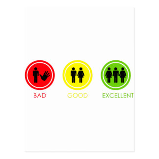 Bad Good Excellent Postcard