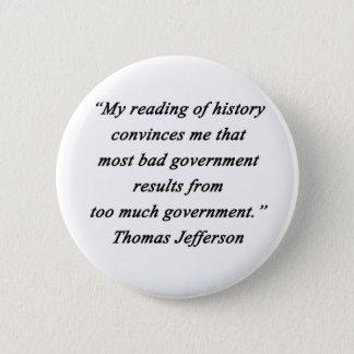 Bad Government - Thomas Jefferson Button