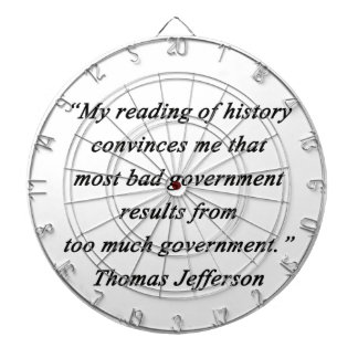 Bad Government - Thomas Jefferson Dart Board