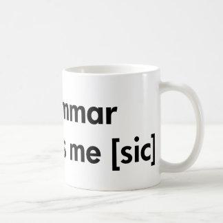 Bad Grammar Makes Me (sic) Basic White Mug