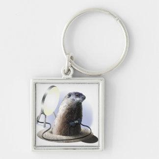 Bad Groundhog Keychain