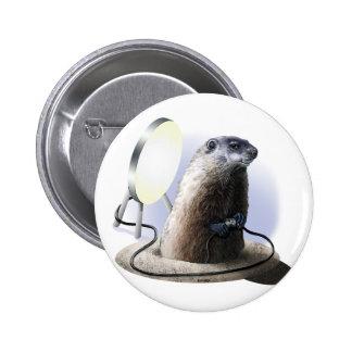 Bad Groundhog Pinback Button