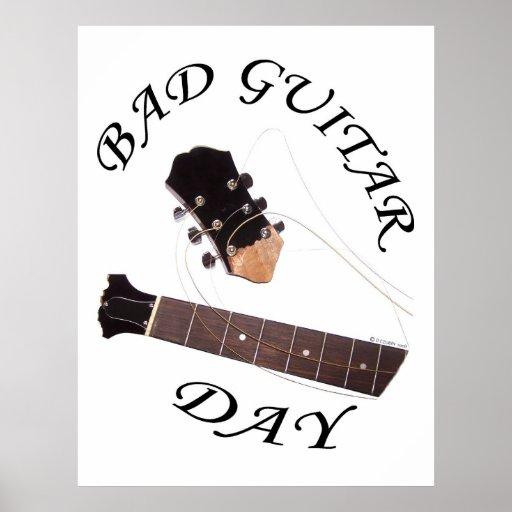 Bad Guitar Day Print