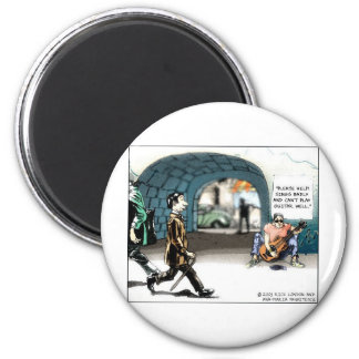 """Bad Guitarist"" Funny Cartoon Gifts & Collectibles 2 Inch Round Magnet"