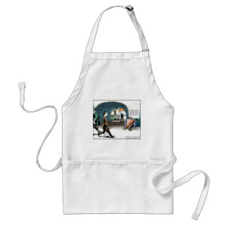 """""""Bad Guitarist"""" Funny Cartoon Gifts & Collectibles Adult Apron"""