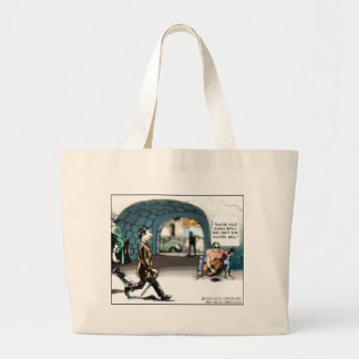 """""""Bad Guitarist"""" Funny Cartoon Gifts & Collectibles Large Tote Bag"""