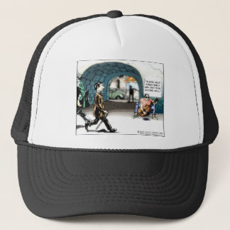 """""""Bad Guitarist"""" Funny Cartoon Gifts & Collectibles Trucker Hat"""