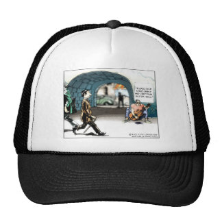 """Bad Guitarist"" Funny Cartoon Gifts & Collectibles Trucker Hat"