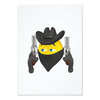 Bad Guy Cowboy 2 5x7 Paper Invitation Card