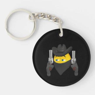 Bad Guy Cowboy 2 Double-Sided Round Acrylic Keychain