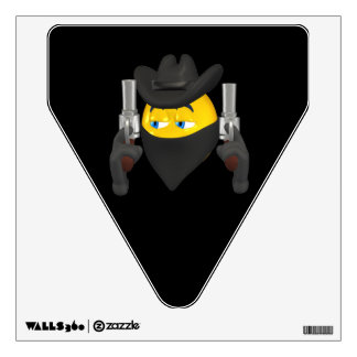 Bad Guy Cowboy 2 Room Stickers
