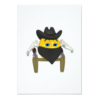 Bad Guy Cowboy 3 5x7 Paper Invitation Card