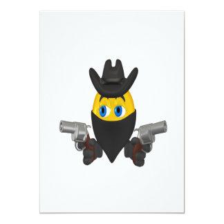 Bad Guy Cowboy 5x7 Paper Invitation Card