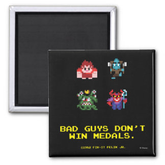 Bad Guys Don't Win Medals 2 Inch Square Magnet