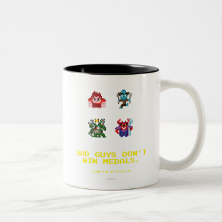 Bad Guys Don't Win Medals Two-Tone Coffee Mug