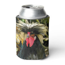 Bad Hair Chicken Photo Can Cooler