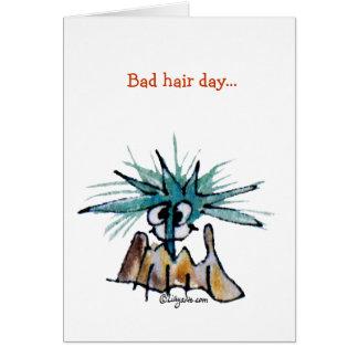 Bad Hair Day Barnacle Hair Stylist Cartoon Greeting Card