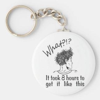 Bad Hair Day / BedHead Basic Round Button Keychain
