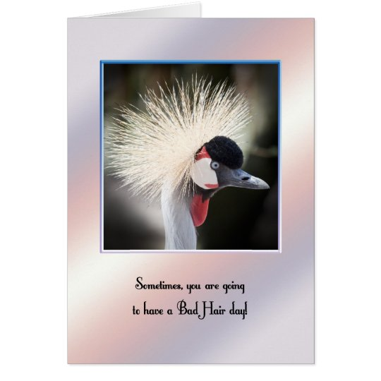 Bad hair day card for encouragement.