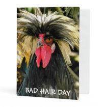 Bad Hair Day Chicken Photo Mini Binder