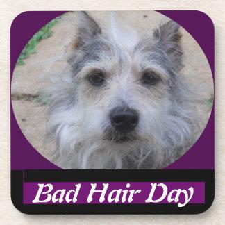 Bad Hair Day cork coaster