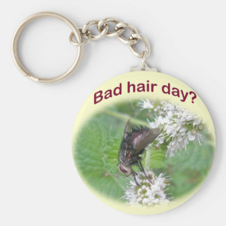Bad Hair Day Fly Coordinating Items Basic Round Button Keychain