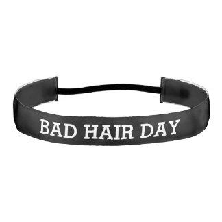 Bad Hair Day Funny Athletic Headband