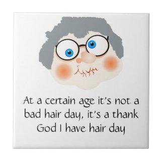 Bad Hair Day Granny Tile