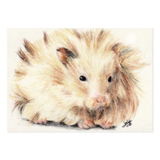 Bad Hair Day (Hamster) ACEO Art Trading Cards Large Business Card