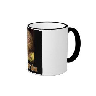 Bad Hair Day Marmoset Ringer Coffee Mug