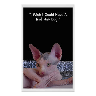 """""""Bad Hair Day"""" Poster"""