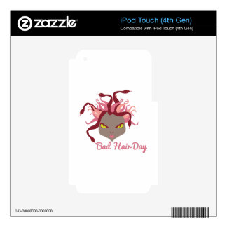 Bad Hair Day Skins For iPod Touch 4G