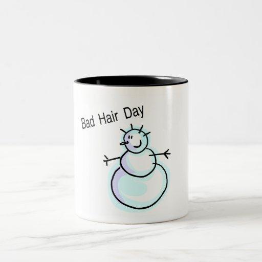 Bad Hair Day Snowman Coffee Mug