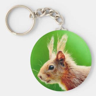 Bad hair day squirrel basic round button keychain